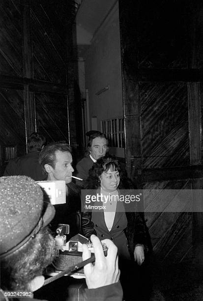 Charlie Kray leaving Maidstone Prison today with him is Mrs Susan Dwyer January 1975 7500141008