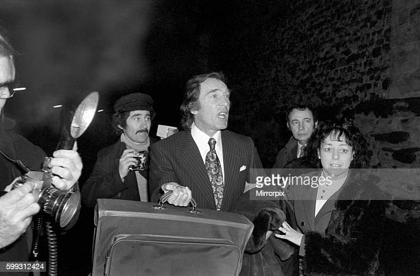 Charlie Kray leaving Maidstone Prison today with him is Mrs Susan Dwyer January 1975 7500141009