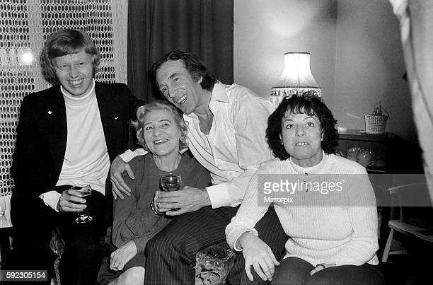 Charlie Kray with his son Gary his mother Violet and Mrs Susan Dwyer at the Dwyer's home in St Mary Cray Kent January 1975 7500141011