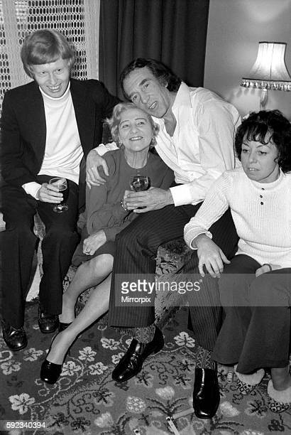 Charlie Kray with his son Gary his mother Violet and Mrs Susan Dwyer at the Dwyer's home in St Mary Cray Kent January 1975 7500141005