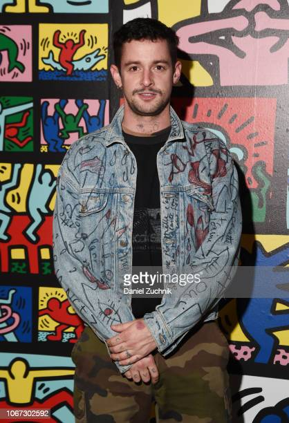 Charlie Le Mindu attends the Keith Haring x Alice Olivia Launch Party at Highline Stages on November 13 2018 in New York City