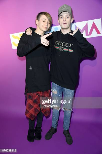 Charlie Lenehan and Leondre Devries of the duo Bars and Melody attend the Stylorama on November 18 2017 in Dortmund Germany
