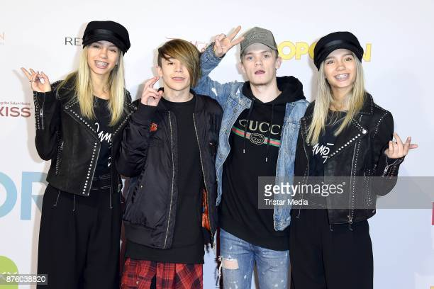Charlie Lenehan Leondre Devries of the duo Bars and Melody and Lisa and Lena attend the Stylorama on November 18 2017 in Dortmund Germany