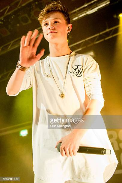 Charlie Lenehan of Bars And Melody performs on stage during their totally sold out debut UK Tour at O2 Academy Leicester on April 10 2015 in...