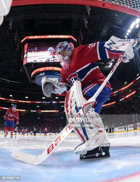 Charlie Lindgren of the Montreal Canadiens during the NHL game against the Vegas Golden Knights at the Bell Centre on November 7 2017 in Montreal...