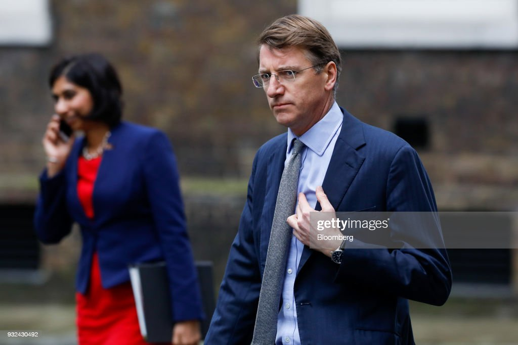 Charlie Mayfield, chairman of John Lewis Partnership Plc, arrives for a meeting of the Business Advisory Council at Downing Street in London, U.K., on Thursday, March 15, 2018. U.K. Prime Minister Theresa May is due to meet business leaders on Thursday to discuss Britain's departure from the European Union. Photographer: Luke MacGregor/Bloomberg via Getty Images