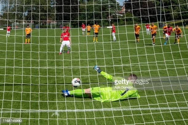 Charlie McCann of Manchester United U18s in action during the U18 Premier League match between Wolverhampton Wanderers U18s and Manchester United...