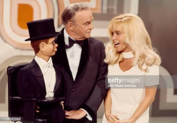 Charlie McCarthy Edgar Bergen Joy Harmon appearing in the Walt Disney Television via Getty Images tv special 'The Walt Disney Television via Getty...