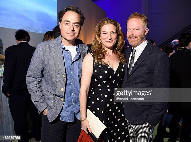 Charlie McKittrick, Ana Gasteyer, and Jesse Tyler Ferguson attend the Good Shepherd Services Spring Party 2015 hosted by Isaac Mizrahion on April 16,...