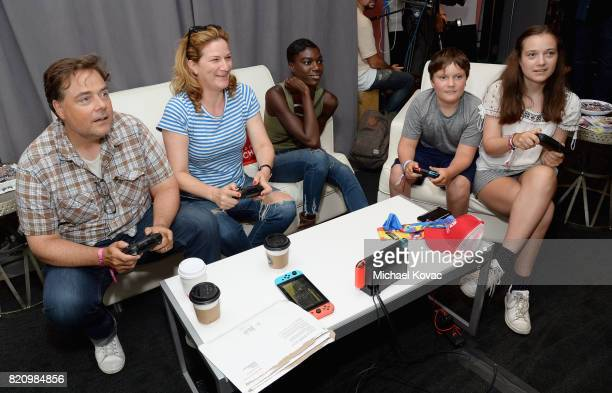 Charlie McKittrick, Ana Gasteyer, guest, Ulysses McKittrick, and Frances Mary McKittrick stopped by Nintendo at the TV Insider Lounge to check out...