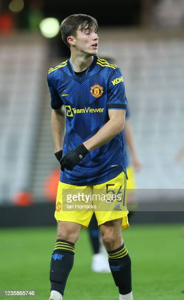 Charlie McNeill of Manchester United during the Papa John's Trophy match between Sunderland and Manchester United at Stadium of Light on October 13,...
