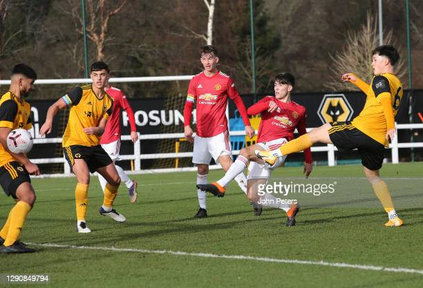 Charlie McNeill of Manchester United U18s in action during the U18 Premier League match between Wolverhampton Wanderers U18s and Manchester United...