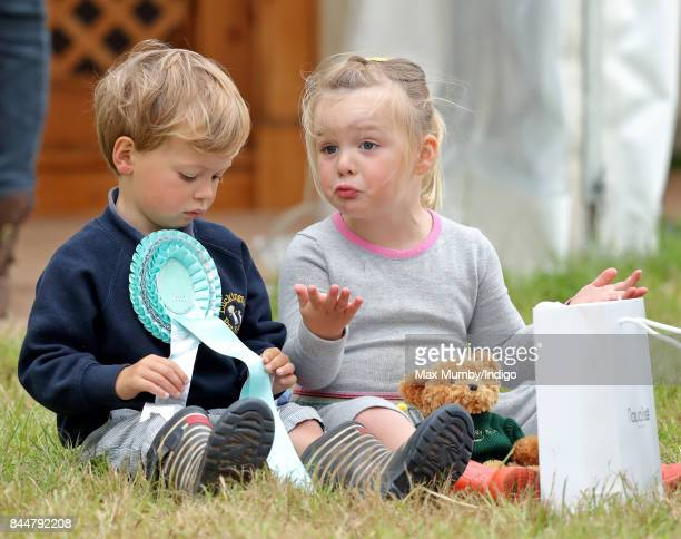 Charlie Meade and Mia Tindall attend the Whatley Manor Horse Trials at Gatcombe Park on September 8 2017 in Stroud England
