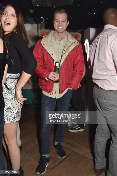 Charlie Mills attends Bunga Bunga Covent Garden's 1st birthday party on January 31 2018 in London England