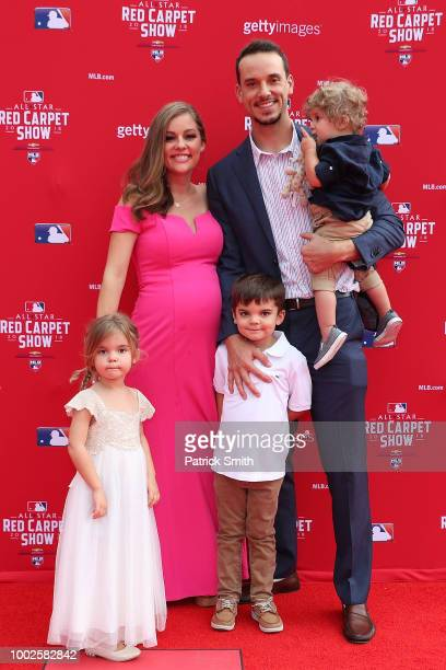 Charlie Morton of the Houston Astros and the American League and guests attend the 89th MLB AllStar Game presented by MasterCard red carpet at...