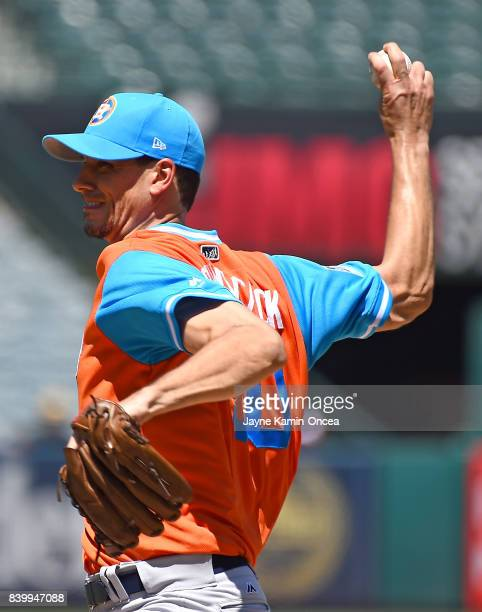 Charlie Morton of the Houston Astros pitches in the third inning of the game against the Los Angeles Angels of Anaheim at Angel Stadium of Anaheim on...