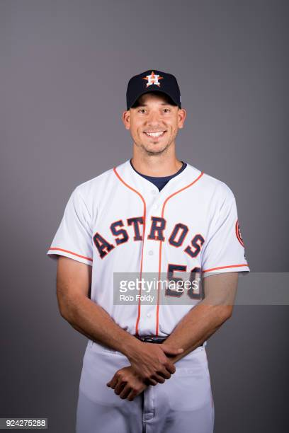 Charlie Morton of the Houston Astros poses during Photo Day on Wednesday February 21 2018 at the Ballpark of the Palm Beaches in West Palm Beach...