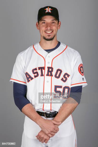 Charlie Morton of the Houston Astros poses during Photo Day on Sunday February 19 2017 at the Ballpark of the Palm Beaches in West Palm Beach Florida