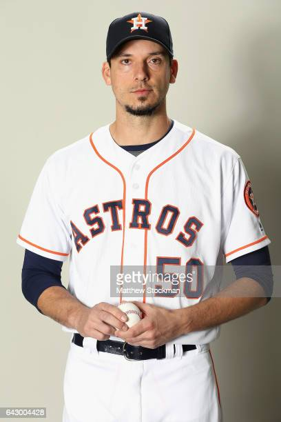 Charlie Morton of the Houston Astros poses for a portrait during Houston Astros Photo Day at The Ballpark of the Palm Beaches on February 19 2017 in...