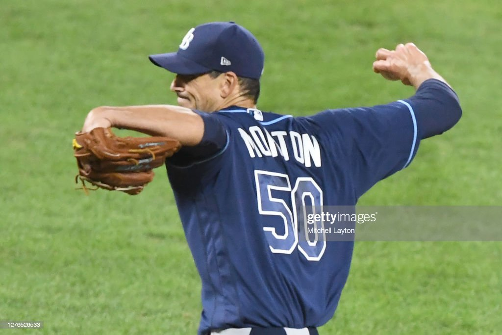 charlie morton of the tampa bay rays pitches during a baseball game news photo getty images 2