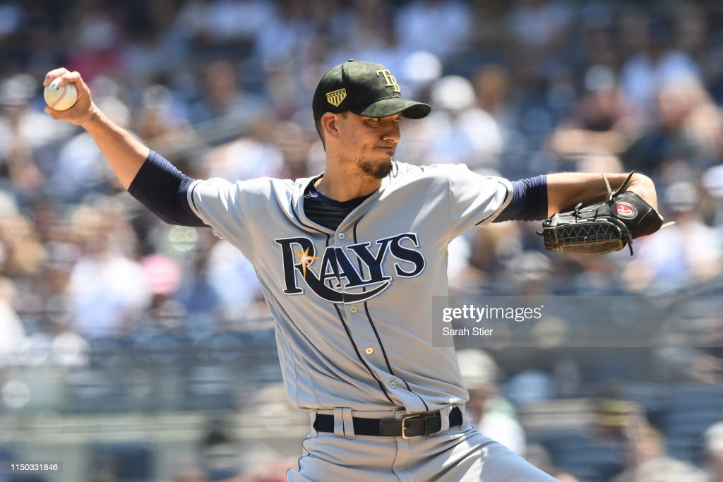 charlie morton of the tampa bay rays pitches during the first inning news photo getty images 2