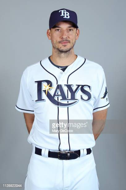 Charlie Morton of the Tampa Bay Rays poses during Photo Day on Sunday February 17 2019 at Charlotte Sports Park in Port Charlotte Florida