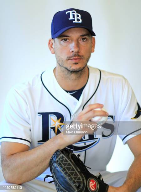 Charlie Morton of the Tampa Bay Rays poses for a portrait during photo day on February 17, 2019 in Port Charlotte, Florida.