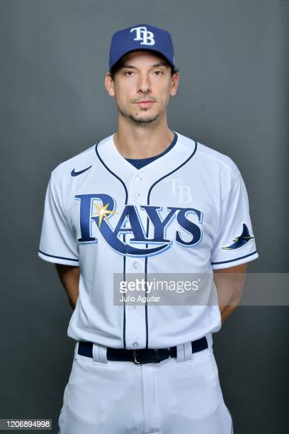 Charlie Morton of the Tampa Bay Rays poses for picture day on February 17, 2020 in Port Charlotte, Florida.