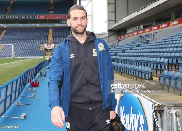 Charlie Mulgrew during the Sky Bet League One match between Blackburn Rovers and Southend United at Ewood Park on April 7 2018 in Blackburn England