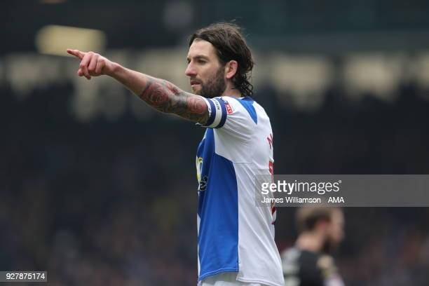 Charlie Mulgrew of Blackburn Rovers during the Sky Bet League One match between Blackburn Rovers and Wigan Athletic at Ewood Park on March 4 2018 in...