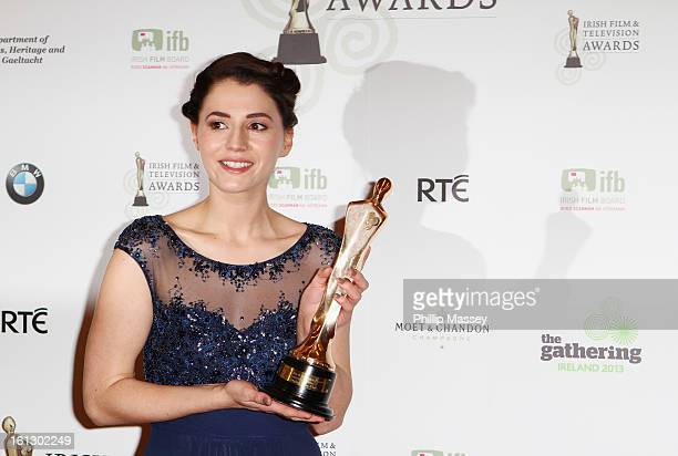 Charlie Murphy poses in the Press Room after receiving the Best TV actress award for her role in 'Love/Hate' at the Irish Film and Television Awards...