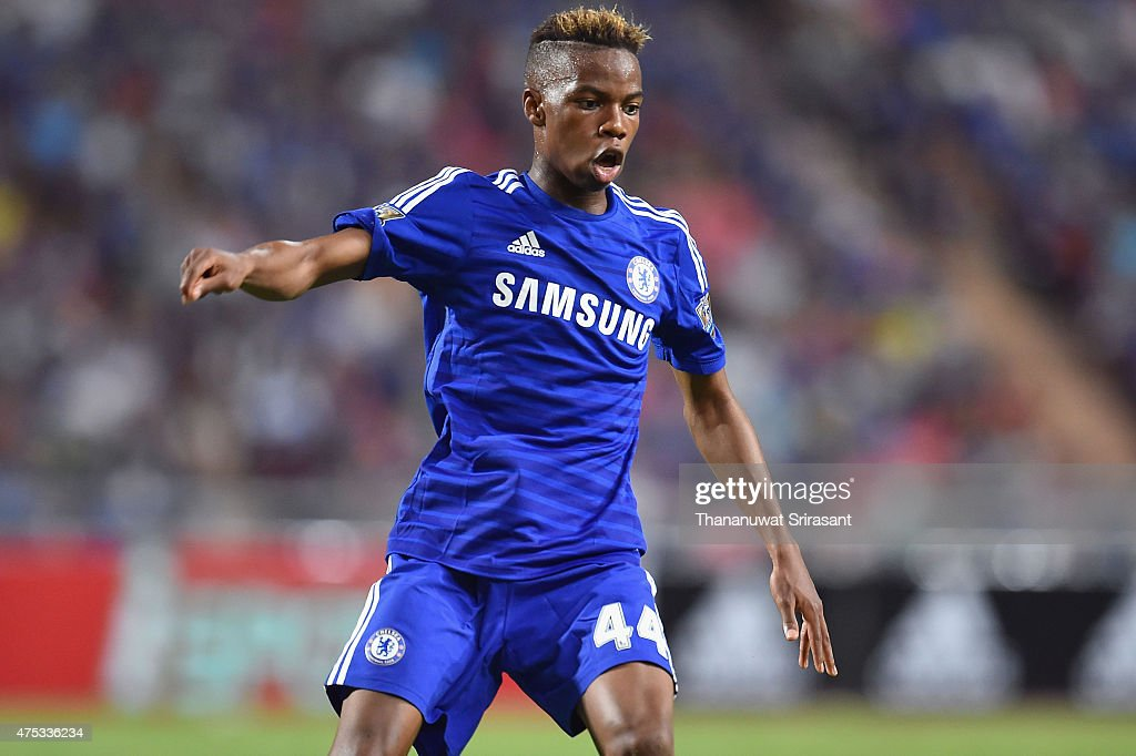 Charlie Musonda #44 of Chelsea FC actions during the international friendly match between Thailand All-Stars and Chelsea FC at Rajamangala Stadium on May 30, 2015 in Bangkok, Thailand.