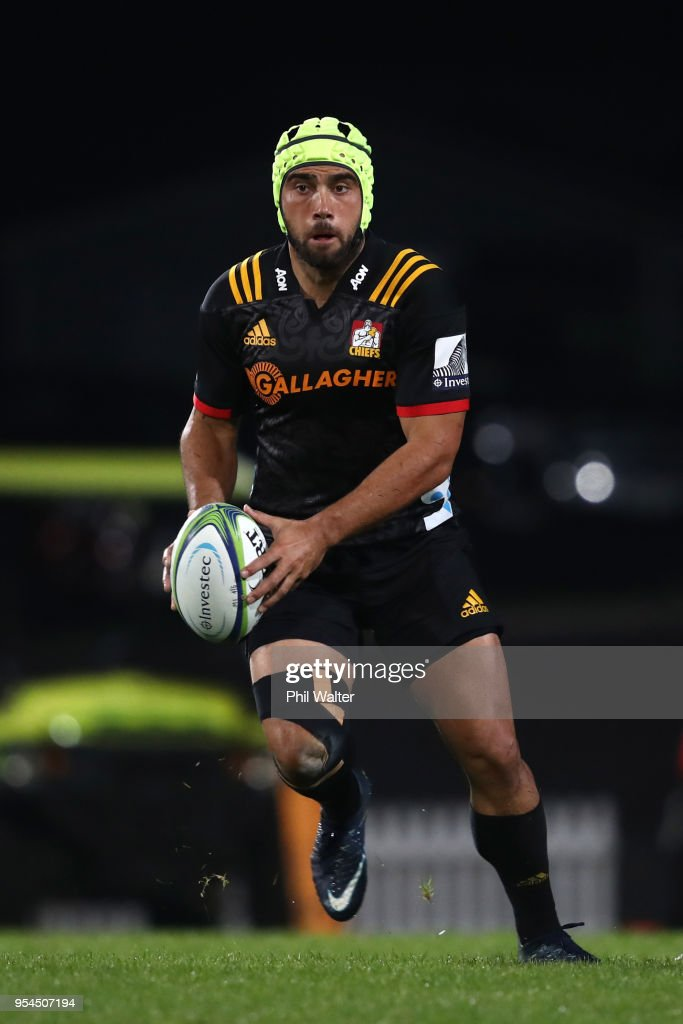 Charlie Ngatai of the Chiefs during the round 12 Super Rugby match between the Chiefs and the Jaguares at Rotorua International Stadium on May 4, 2018 in Rotorua, New Zealand.