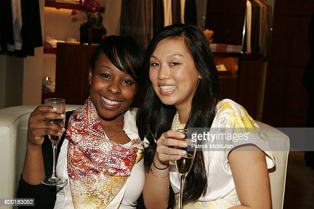 Charlie Nixon and Grace Lu attend EXCLUSIVE NIGHT OF COCKTAILS SHOPPING W CEO OF HERMES at Hermes on April 23 2008 in New York City