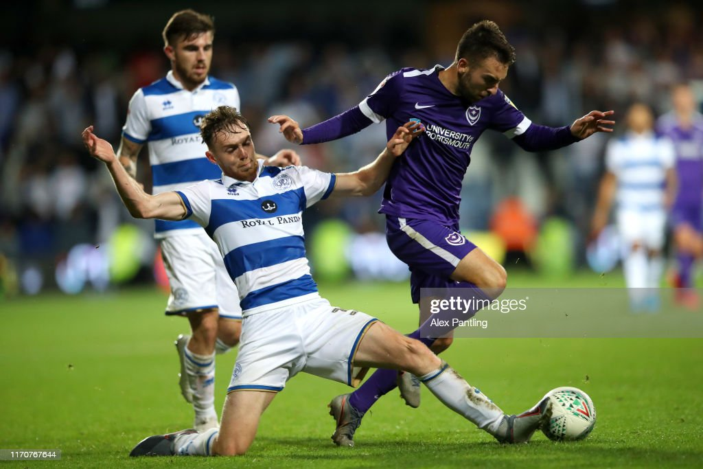 Queens Park Rangers v Portsmouth - Carabao Cup Second Round : News Photo