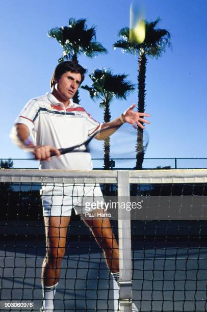 Charlie Pasarell shows his tennis skills at La Quinta Resort Club he was part of the team heading the project of the The Indian Wells Tennis Center...
