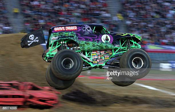 US Charlie Pauken driving Grave Digger Truck during Orlen Monster Jam competition the monster truck show on May 30 2009 in Chorzow Poland Monster Jam...