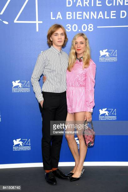 Charlie Plummer and Chloe Sevigny attend the 'Lean On Pete' photocall during the 74th Venice Film Festival on September 1 2017 in Venice Italy
