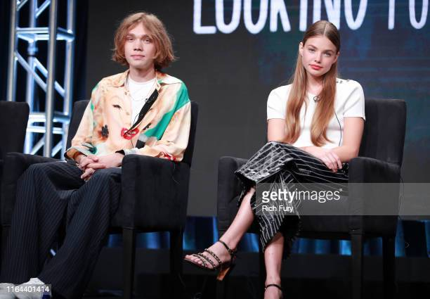 Charlie Plummer and Kristine Froseth of 'Looking for Alaska' speak onstage during the Hulu segment of the Summer 2019 Television Critics Association...