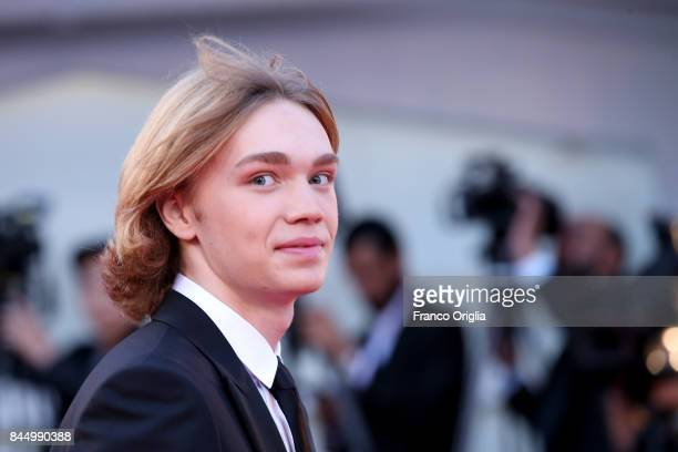 Charlie Plummer arrives at the Award Ceremony during the 74th Venice Film Festival at Sala Grande on September 9 2017 in Venice Italy
