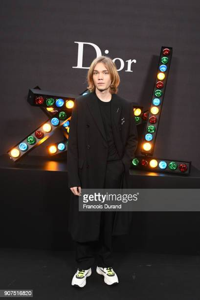 Charlie Plummer attends Dior Homme Menswear Fall/Winter 20182019 show as part of Paris Fashion Week at Grand Palais on January 20 2018 in Paris France