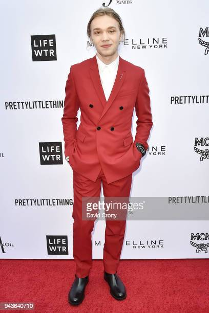Charlie Plummer attends The Daily Front Row's 4th Annual Fashion Los Angeles Awards Arrivals at The Beverly Hills Hotel on April 8 2018 in Beverly...