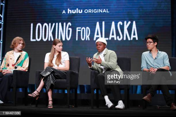 Charlie Plummer Kristine Froseth Denny Love and Jay Lee of 'Looking for Alaska' speaks onstage during the Hulu segment of the Summer 2019 Television...