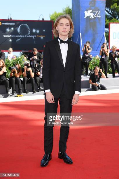 Charlie Plummer walks the red carpet ahead of the 'Lean On Pete' screening during the 74th Venice Film Festival at Sala Grande on September 1 2017 in...