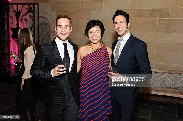Charlie Pohlad Christine Y Kim and Jo Dickey attend LAXART at Greystone Mansion on September 27 2014 in Beverly Hills California