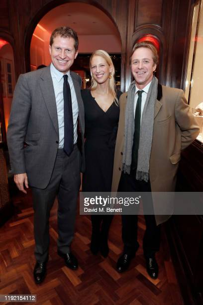 Charlie Pragnell, Lady Gabriella Windsor and Thomas Kingston attend the launch of the Pragnell collection created in collaboration with Lady Emily...