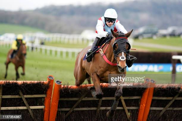 Charlie Price riding Flanagans Field clear the last to win The Faucets Deliver Rada From Stock Next Day Handicap Hurdle at Chepstow Racecourse on...