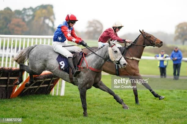 Charlie Price riding Shadow's Girl clear the last to win The Racing Welfare Supporting Racing's Workforce Handicap Hurdle at Chepstow Racecourse on...