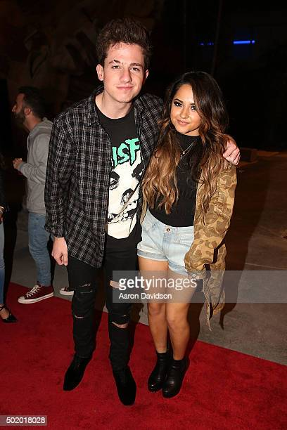 Charlie Puth and Becky G attend DNCE Jingle Ball after party on December 18 2015 in Miami Florida