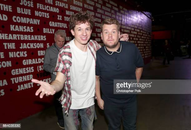 Charlie Puth and James Corden attend 1027 KIIS FM's Jingle Ball 2017 presented by Capital One at The Forum on December 1 2017 in Inglewood California